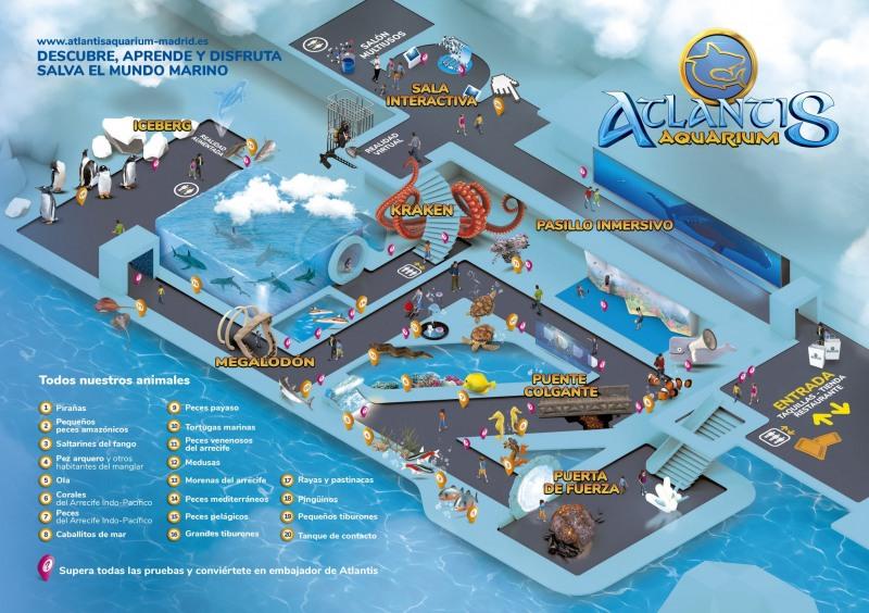 карта на atlantis aquarim в мадрид