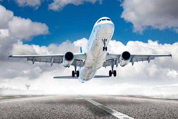 самолет при кацане
