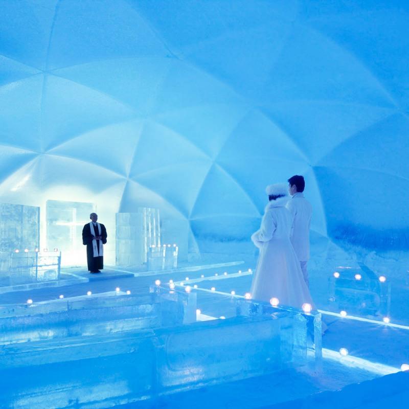 сватба в леден град в япония