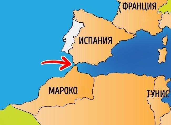 карта мароко