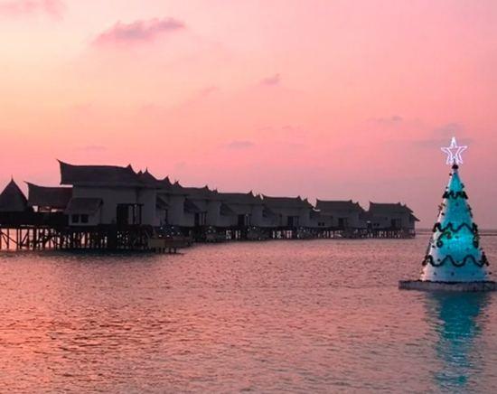 как се празнува нова година н амалдивите